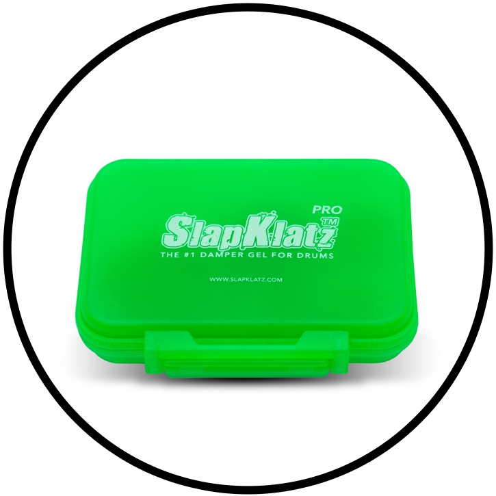 SlapKlatz PRO Alien Green Case Closed Circle
