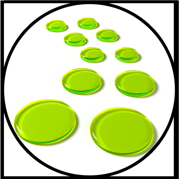 SlapKlatz PRO Alien Green Gels Circle