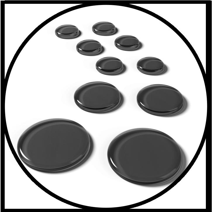 SlapKlatz PRO Black Gels Circle